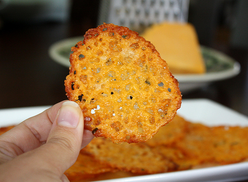 chips de queijo low carb